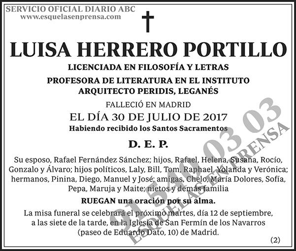 Luisa Herrero Portillo
